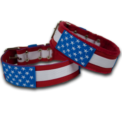 "Obroża comfort ""Stars and Stripes"" 5cm"